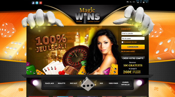 Magicwins casino website preview